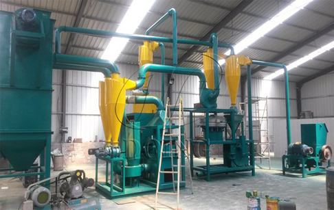 PCB recycling machine in customer factory